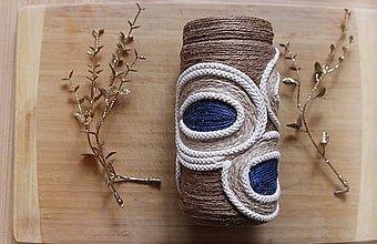 """Dekorácie - Recyklované váza """" Grécke oko"""" - 10265069_"""