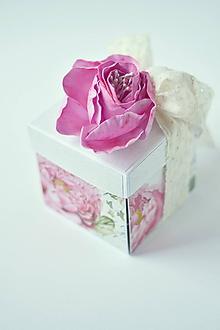 Papiernictvo - Narodeninový exploding box- pivonka - 10265482_