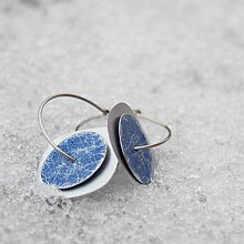 Náušnice - Blue squircle - 10264996_