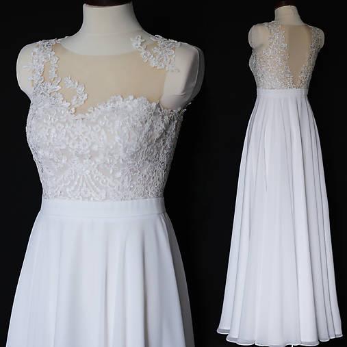 Svadobné šaty s kruhovou sukňou   Dyona - SAShE.sk - Handmade Šaty 6758ec25665