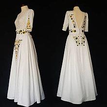 Šaty - Vyšívané FOLK šaty s hrubou krajkou SKLADOM - 10265842_