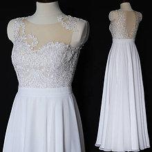Šaty - Svadobné šaty s kruhovou sukňou - 10266183_