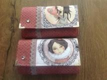 Peňaženky - Peňaženka  - dievčatko ružove, s kľúčenkou - 10265639_