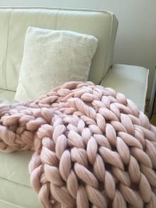 Úžitkový textil - Chunky merino deka - 10264871_