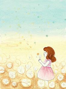 Obrazy - Dievčatko s púpavou, obrázok - 10265479_