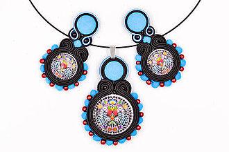 Sady šperkov - Milujem folk - soutache set - 10265846_