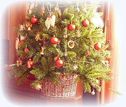 Košíky - Košík - kryt na stojan vianočného stromčeka  prieme 30 cm - 10264883_