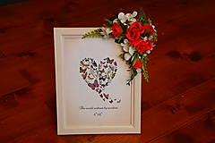 Rámiky - Červeno-biely valentínsky fotorámik na 20x15cm - - 10265525_