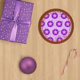 Grafika - Vianočné grafické perníky so vzorom stracciatella - vianočné gule s hviezdičkou - 10265869_