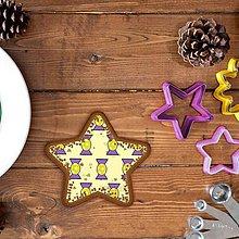 Grafika - Vianočné grafické perníky so vzorom stracciatella - salónky hviezdičkové - 10265853_