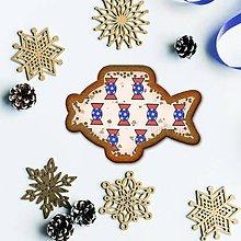 Grafika - Vianočné grafické perníky so vzorom stracciatella - salónky hviezdičkové (kapor) - 10265861_