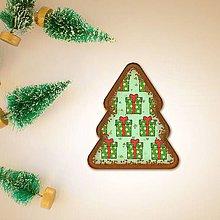 Grafika - Vianočné grafické perníky so vzorom stracciatella - vianočné darčeky - 10265863_