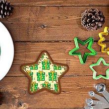 Grafika - Vianočné grafické perníky so vzorom stracciatella - vianočné darčeky (hviezda) - 10265866_