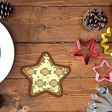 Grafika - Vianočné grafické perníky so vzorom stracciatella - kapor (hviezda) - 10265872_