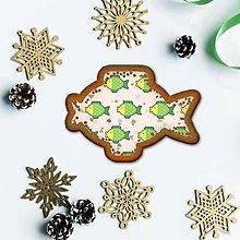Grafika - Vianočné grafické perníky so vzorom stracciatella - kapor - 10265873_