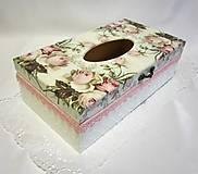 Krabičky - Krabica na vreckovky--- Rose 2 - 10267537_
