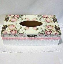 Krabičky - Krabica na vreckovky--- Rose 2 - 10267535_
