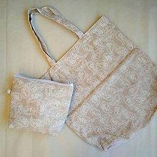 Nákupné tašky - Nákupná taška + kozmetická - 10267190_