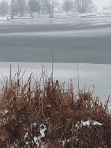 Fotografie - Zamrznuté jazero... - 10267853_