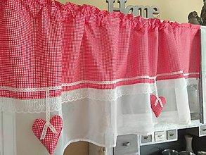 Úžitkový textil - Vitrážková záclonka - 10267727_