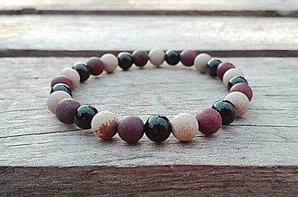Šperky - Náramok - ónyx, jaspis, mookait - 10267650_