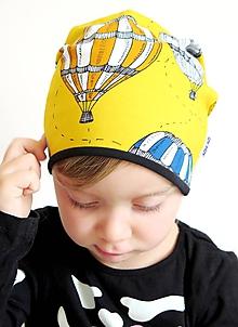 Detské čiapky - čiapka z biobavlny Do oblakov! (žltá) - 10267571_