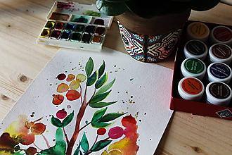 Kresby - Kvietky akvarelové - 10267381_