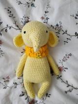 Hračky - Háčkovaný sloník (little owlet) - 10266557_