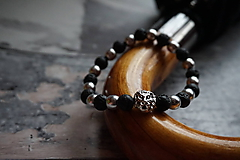 Šperky - Pánsky lávový náramok - 10267736_