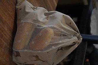 Nákupné tašky - Zero Waste vrecká na pečivo (Vrecko na pečivo-jelenčeky) - 10266777_