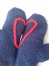 Rukavice palčiaky srdce na dlani