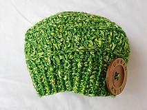 Čiapky - Čiapka zelena melirovana - 10268120_