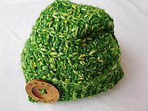 Čiapky - Čiapka zelena melirovana - 10268121_