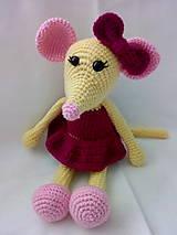 Hračky - Myška baletka s mašličkou - 10267161_
