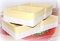 Košíky - Košík biely - 10267310_