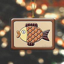 """Dekorácie - Vianočná ozdoba ,,čokoládová"""" - rybka - 10266947_"""
