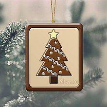 Dekorácie - Vianočná ozdoba ,,čokoládová