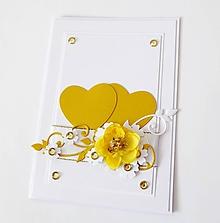 Papiernictvo - pohľadnica svadobná - 10268401_