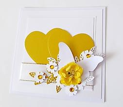Papiernictvo - pohľadnica svadobná - 10268406_