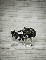 Ozdoby do vlasov - Čierna elegantná čelenka s čipkou - 10269131_