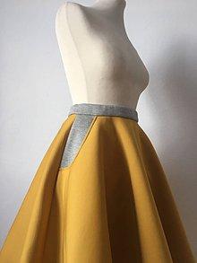 Sukne - teplá žltá sukňa - 10269023_