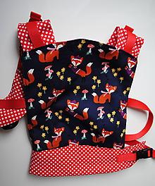 Detské doplnky - Nosič pre bábiky Líška - 10268633_