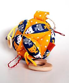 Hračky - Montessori lopta Mačky - 10268691_
