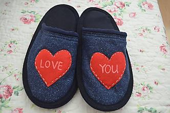 Obuv - Papuče- Love You - 10268913_