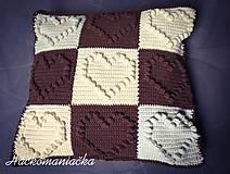 Úžitkový textil - Háčkovaný vankúš - 10269511_