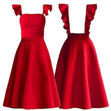Šaty - Šaty s volánmi a holým chrbátom rôzne farby - 10269189_