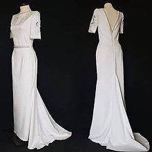 Šaty - Svadobné šaty strihu morská panna s vlečkou - 10269256_