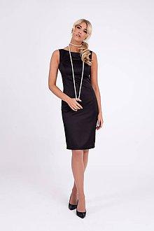 Šaty - Saténové púzdrové šaty