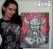 "Obrazy - Malba na plátne ""Odin"" :) - 10269223_"
