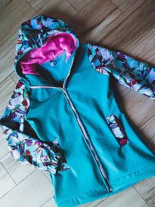 Tehotenské/Na dojčenie - Softshellová bunda na nosenie dieťatka - 10268260_